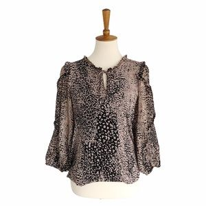 Anthropologie Maeve Cheetah Blouse Size Small